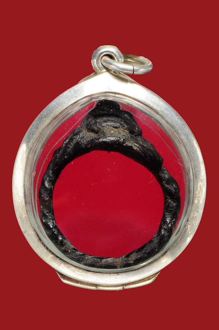 พระเครื่อง  แหวนพิรอด ( หมวกเจ็ก ) หลวงปู่ยิ้ม วัดหนองบัว กาญจนบุรี สวยเ ดิมๆ