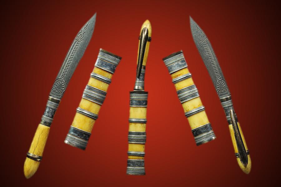 พระเครื่อง  มีดปากกา หลวงพ่อเดิม วัดหนองโพ 3 กษัตริย์ # 4 #