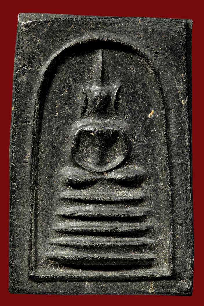 พระเครื่อง  พระสมเด็จหลวงพ่อทองอยู่ วัดใหม่หนองพะองค์ เนื้อผงใบลาน รางวัลที่3 รร.นรต.สามพราน ปี56
